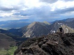 Jonno scampering along the ridge