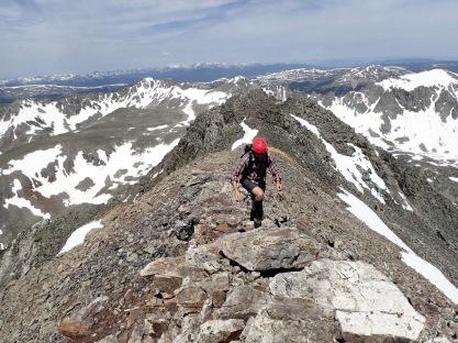 Along the ridgeline
