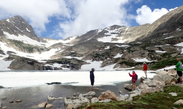 Out hiking with Andrew, Sarai and co near the Blue Lakes