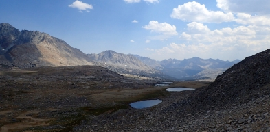 Looking back from the trail up to Mather Pass