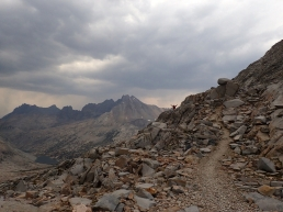 The trail up to Mather Pass