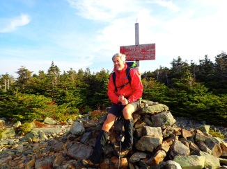 Jonno on the summit of Whitecap Mountain